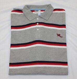 Men's Rocawear Charcoal Stripe Polo Shirt Big & Tall