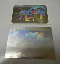 199o 91 IMPEL Fantastic Four & SPIDER-MAN Hologram Cards LOT of 2 H-5 MH-5 VF/NM