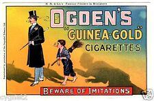 POSTCARD BRITISH OGDEN'S GUINEA-GOLD CIGARETTES ADVERTISING