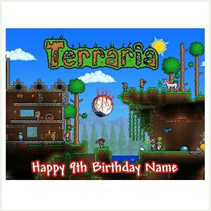 Terraria Edible Image personalised icing cake topper party decoration video game