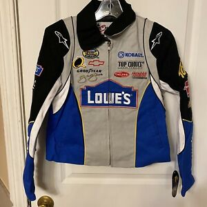 NASCAR girls Chase Authentic's Racing Crew Jacket Lowes #48 Jimmie Johnson Sm