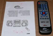 Original Fernbedienung Elta 2489 Stereoanlage inkl. Bedienungsanleitung