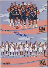 (2) 1996 FLEER USA BASKETBALL CHECKLIST:PENNY/SHAQ/PIPPEN/REGGIE/MALONE/OLAJUWON