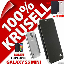 Krusell Boden Flip Case for Samsung Galaxy S5 Mini Protective Cover Folio Black