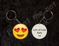 Personalised Emoji Keyring Emoticon Keyring valentines gift