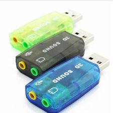 Mic Headset Headphone 3D Earphone Audio Adapter 5.1 USB External Sound Card