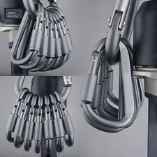 6x Mousqueton Auto-bloquants Alpinisme Escalade Alliage D'aluminium Crochet