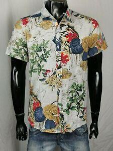 EDLES HAWAII HERREN HEMD SHIRT gr XL JACKE DESIGNER LUXUS SCHÖN SOMMER FLOWER