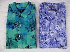 Lot of 2 Daniel Cremieux Mens SZ L Dress Shirts Short Sleeve Vintage & Modern