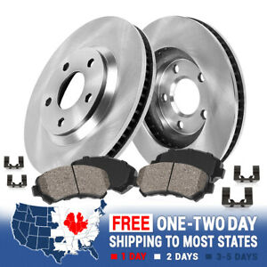 For Ford Explorer Flex Taurus Lincoln MKT MKS Front Brake Rotors & Ceramic Pads