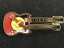 TOKYO RED DOUBLE NECK GUITAR HARD ROCK CAFE PIN