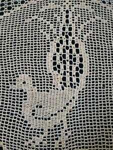 Australian Lyrebird & Native Flora  Unique Hand Crochet Centrepiece