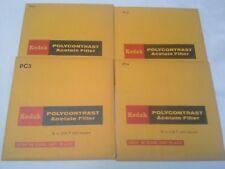 "Vintage Kodak Polycontrast Acetate Filter PC1 PC2 PC3 P4 5"""