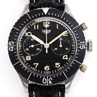 Heuer Flyback  Bundeswehr Edelstahl  Chronograph Ref. 1550  Kaliber 230 ca. 1980
