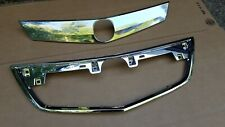 2Pc Set 2012-2014 Acura Tl Front Bumper Upper Grille Molding Trim Pair New (Fits: Acura Tl)