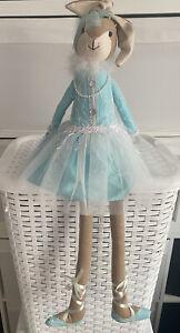 "Pretty Shelf Sitter 25"" Tall Bunny Rabbit Rag Doll - Weighted - Shelf Sitter"