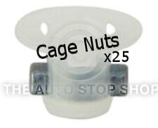 DADI GABBIA Intagliato PUNCH Foro 6mm SPESSORE 1,8 mm PEUGEOT BOXER ETC 405pe 25PK