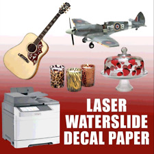 "Laser WaterSlide Decal Paper *WHITE* 8.5"" x 11"" 100 Sheets"