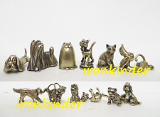 Gold collection - Cats and dogs collectible bronze miniature figures