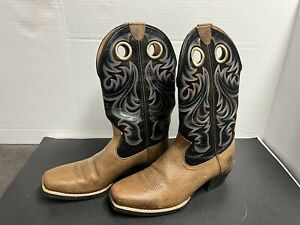 Ariat Mens Size 11 D 44.5 M Leather Tall Pull On Square Toe Cowboy Boot 10015314