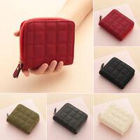 Women Leather Bifold Wallet Ladies Zipper Clutch Card Holder Coin Purse Handbag