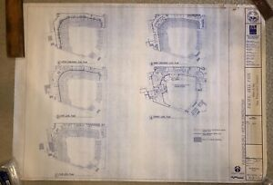 Pac Bell Park Stadium Blueprint - San Francisco Giants - Oracle Park -AT&T Park