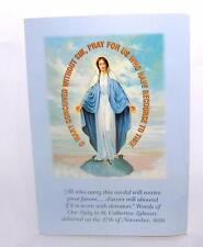 1990s FOOD FOR THE POOR ST CATHERINE MIRACULOUS MEDAL & CARD DONATION GIFT