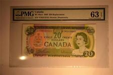 CANADA $20 1969 *EM3135451 REPLACEMENT PMG GRADED CHOICE UNC 63
