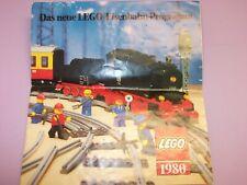 LEGO ® alte Eisenbahn Broschüre / Katalog 1981 viel 12 Volt 4,5 Volt