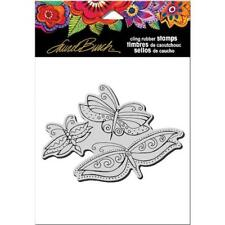Stampendous Laurel Burch Cling Stamp - Flutterbye Trio LBCP005