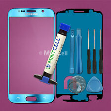 Mirror Blue Front Lens Screen Glass Replacement for Galaxy S6 G920 w/ UV LOCA