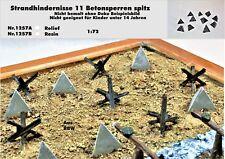 Für Diorama Nr.1257B Strandhindernisse 11 Betonsperren Spitz 1:72 Resin
