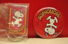 Peanuts Snoopy Sophomore Acrylic Key Chain & Button