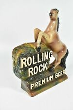 Vintage Rolling Rock Premium Beer Sign Chalk Wear Horse Statue Figure LaTrobe Pa