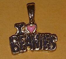 "Vintage I Love Beanies Charm Heart Beanie Babies 1/2"""