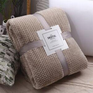 Couverture en flanelle épaisse Laine gaufrée Couverture de canapé-lit de voyage