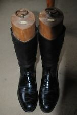 WW2 named officers boots by Moss Bross with Hawkes trees