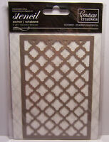 Studded Quatrefoil 4x6 Couture Creations Paper Crafting Art Stencil CO724931