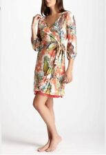 LILKA Anthropologie Capon Robe Rooster Wrap Dress RARE Sz Sm