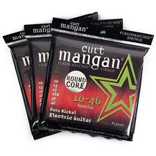 (3 Pack) Curt Mangan Pure Nickel Round Core Electric Guitar Strings (10-46)