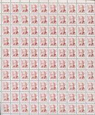 Pane 100 USA Stamps 2179 #B1 Anesthesiologist Virginia Apgar Brookman Price $62