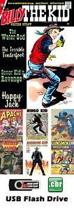 HUGE Billy The Kid &Kid Colt Gunsmoke&More Western Comic Books 500+ on 16GB USB
