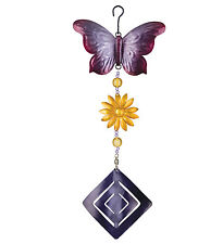 Butterfly Flower Twirly Hanging Garden Spinner New door charm wind decor art