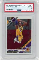 2019-20 Panini Donruss Optic LeBron James #60 PSA 9 Mint Graded