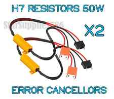 2x H7 RESISTORS WARNING CANCELLERS 50W HID HEADLIGHT AUDI BMW GOLF SEAT MERCEDES