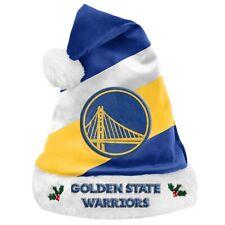 Golden State Warriors Team Big Logo Holiday Plush Santa Hat NEW! Christmas SH19