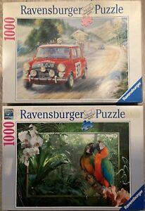 Ravensburger:  2 x 1000-Piece Jigsaw Puzzles  Please See Description