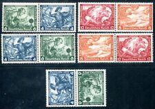 DR 1933 w47, 49,55,57 kz19 ** Post fresco insieme stampe Wagner € 300 (d5057