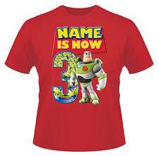 Toy Story Buzz Personalizado De Niño Camiseta Chica Edad 3 IDEAL REGALO