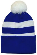 Birmingham City Supporters Royal Blue and White Traditional Style Bobble Hat